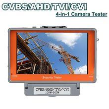Free shipping!4 in 1 Wrist 5″ CVBS/AHD/TVI/CVI CCTV Camera Test Display Monitor Tester Audio