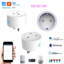 Enchufe inteligente WIFI interruptor de alimentación APP Control remoto temporizador hogar automatización toma de corriente inteligente US UK Enchufe europeo adaptador(China)