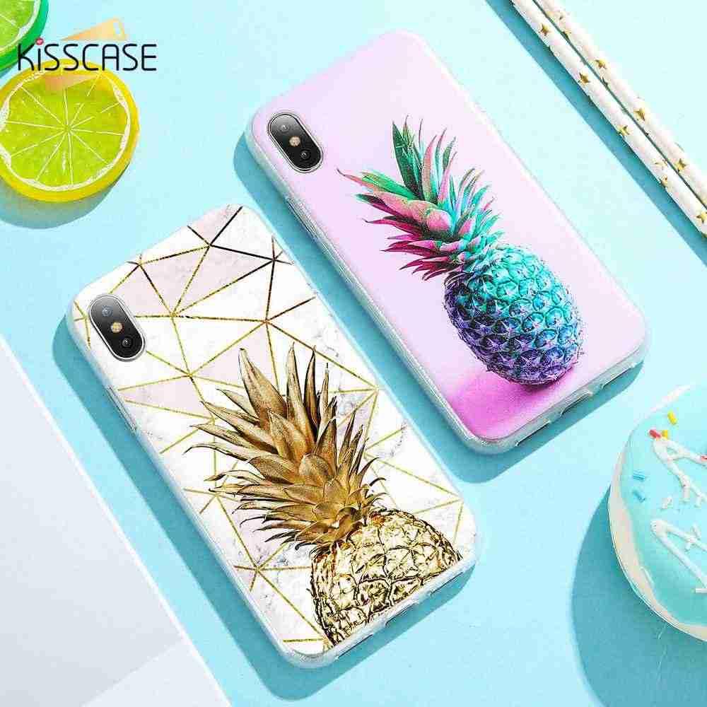 KISSCASE miękka TPU Case do Samsung Galaxy A5 A7 A3 J3 J5 J7 2016 2017 uwaga 8 9 marmuru owoców ananas etui do Samsung S8 S9 S7