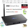 Amlogic S912 Octa Core Android 6.0 Smart TV Caja 2 GB 16 GB/3G 32G X92 4 K Reproductor Multimedia 3D KODI H.265 Bluetooth 5.8G Wifi Mini PC