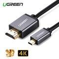 Ugreen Микро-hdmi к HDMI Кабель 2 М Позолоченные 1.4 3D 4 К 1440 P Высокие Премии Кабель-Адаптер для HDTV XBox Мобильный Телефон Таблице кабель