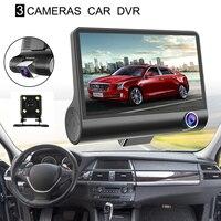 New Original Car DVR Camera Dashcam Full HD 1080P Three Lens 4 inch Video Registrator Recorder G sensor Night Vision Dash Cam