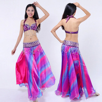 New 2016 High Quality Tribal Belly Dance Outfit For Women Girls Sexy Egyptian Dancing Costumes Bra