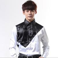 Fashion punk slim sexy shirt men long sleeve shirt teenage shirt mens personality stage singer all match latin dance splice
