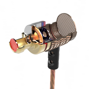 Image 3 - جديد وصول KZ EDR1 المعادن في الأذن سماعة عالية الجودة HiFi الرياضة في الأذن ياربود الأذن سماعة رأس جهيرة الصوت جيدة