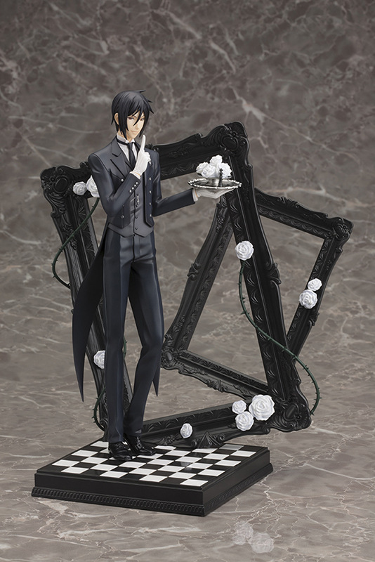 25CM Japanese Anime Figure Black Butler Circus Chapter Ver. Sebastian Michaelis  with background scen tt tf ths 02b hybrid style black ver convoy asia exclusive