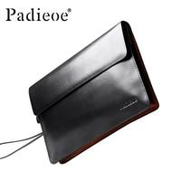 Padieoe 2016 New Coming Designer Handbags Men Women Luxury Brand Clutch Bag Genuine Leather Purse Bag Fashion Men's Day Clutches