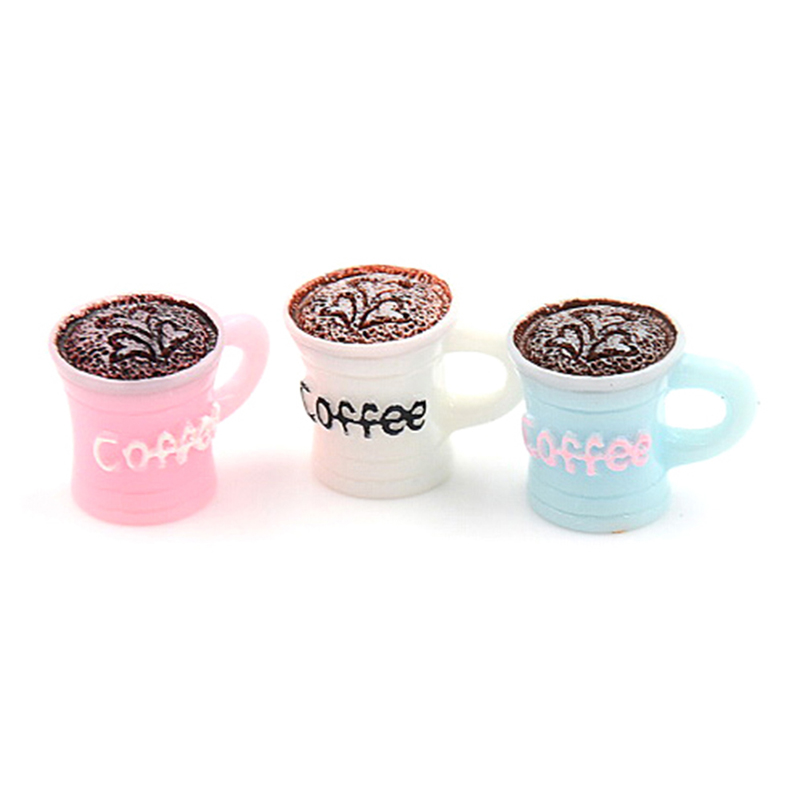 10Pcs Miniature Dollhouse Coffee Cup Kitchen Room Food Drink Home Decors /_A