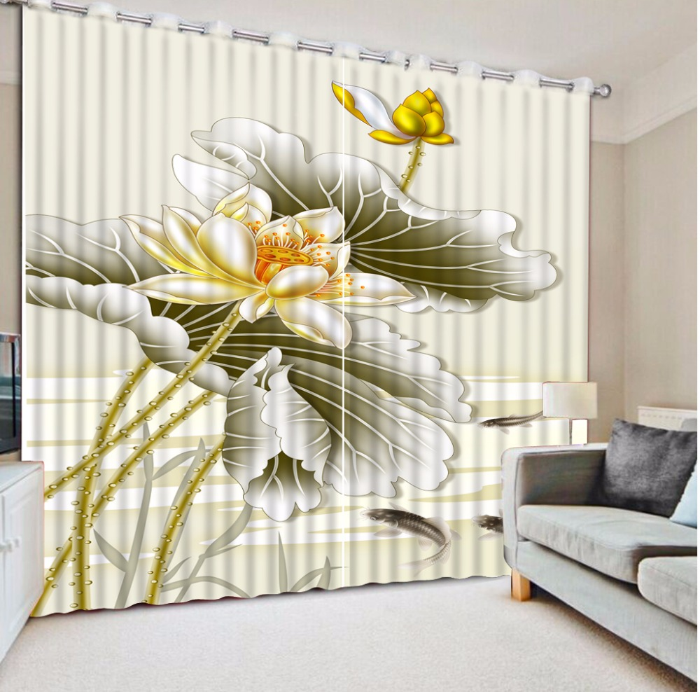 Art style Window Decoration 3D Curtains best Curtains For Living ...