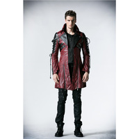 Punk Rave Gothic Man Made Leather Rock Studded Cotton Jacket Coat Streampunk HoodieLot S 3XL