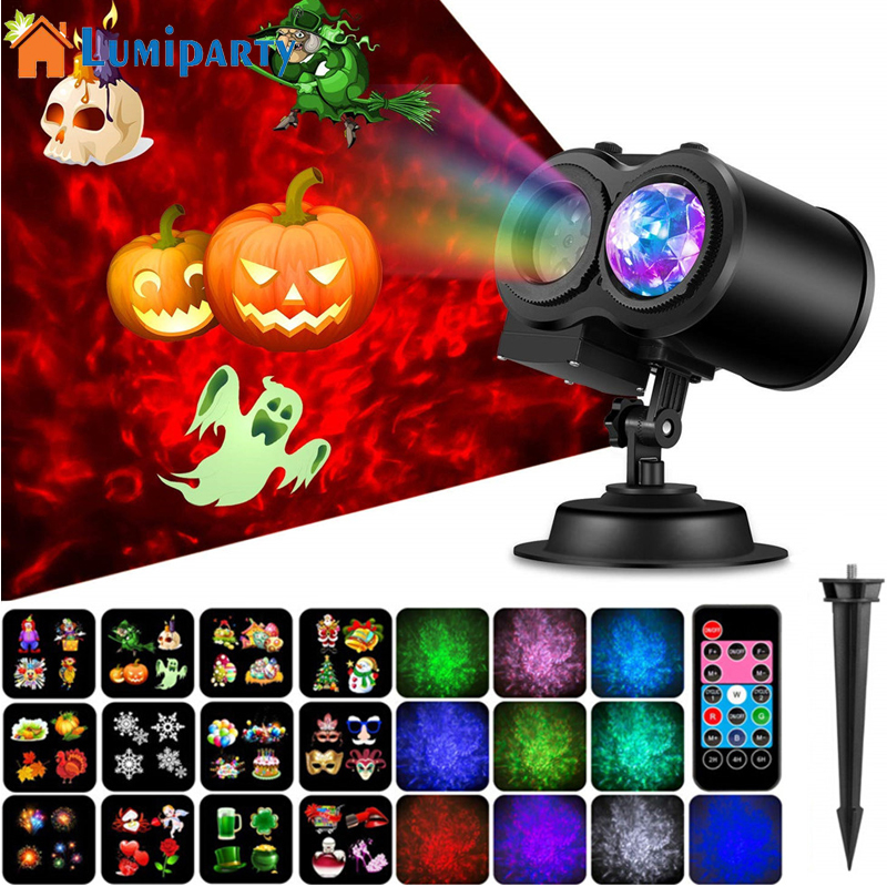 LumiParty LED Christmas Snowflake Projector Lamp with Remote Control Ocean Waves Ripple Effects Outdoor Projector LightsLumiParty LED Christmas Snowflake Projector Lamp with Remote Control Ocean Waves Ripple Effects Outdoor Projector Lights