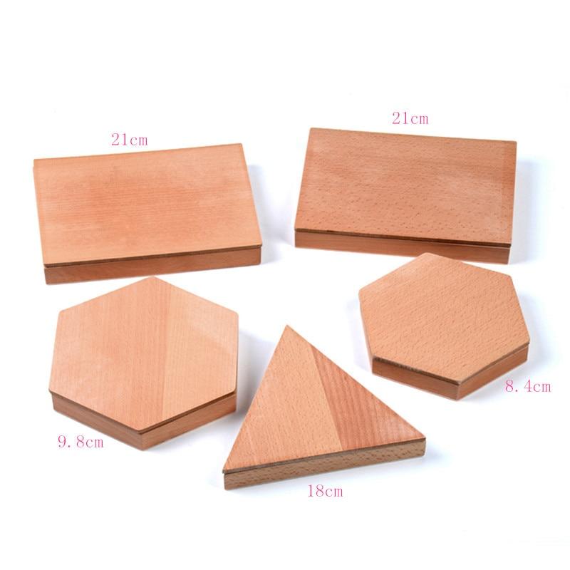 Version familiale bébé jouet Montessori Triangles constructifs avec 5 boîtes éducation de la petite enfance jouets de formation préscolaire - 6