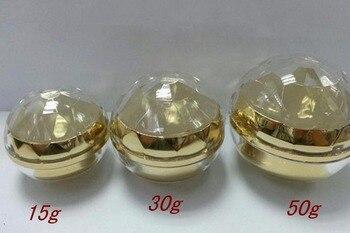15g 30g 50g gloden vazio caixa de cosméticos acrílico rodada creme para os olhos jar
