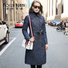 Down Jacket Women In The Long Section of The New Wave of 2016 Autumn and Winter Fashion Slim Line with Blue Waist Warm Jacket