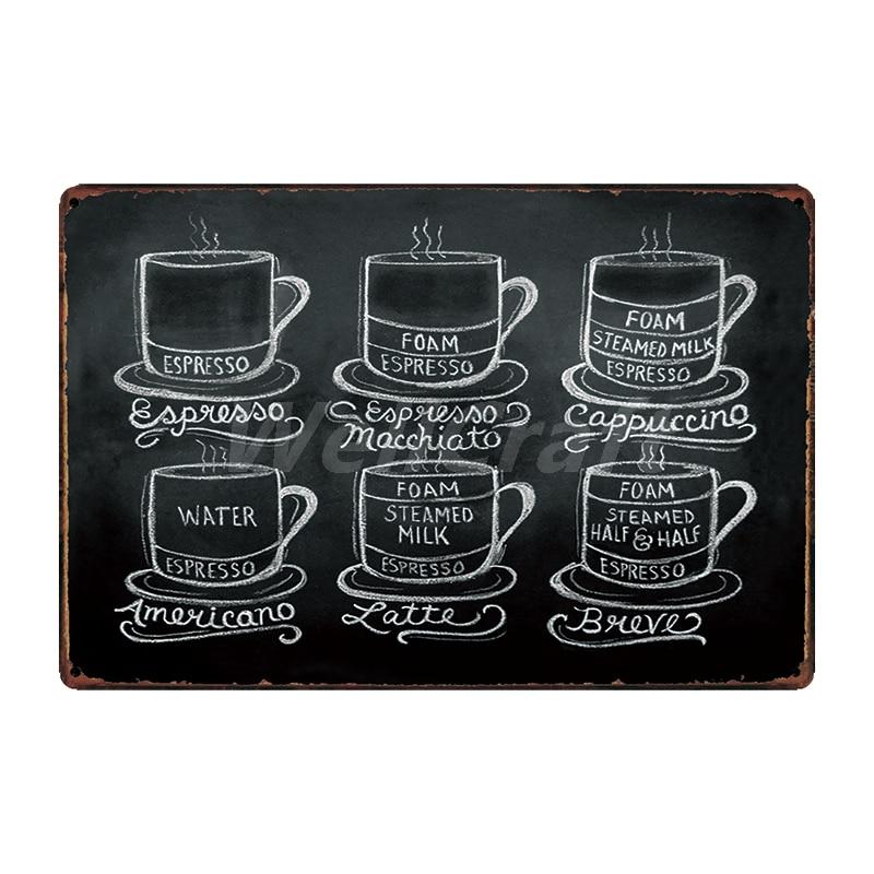 [WellCraft] кофе Коктейль любовь торт чай жестяная вывеска настенные таблички на заказ металлическая живопись античный подарок Бар Паб Декор LT-1704 - Цвет: SA-2624
