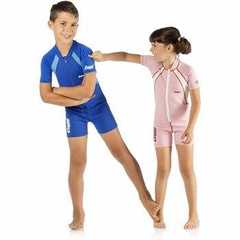 Traje de neopreno de 1,5mm para niños y niñas de Cressi, traje de buceo de neopreno caliente para niños