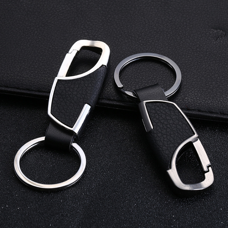 Hot Sell Men Keychain Male Car Keyring Genuine Leather Key Chain Mans Waist/Strap Metal Auto Key Holder Gift For Men