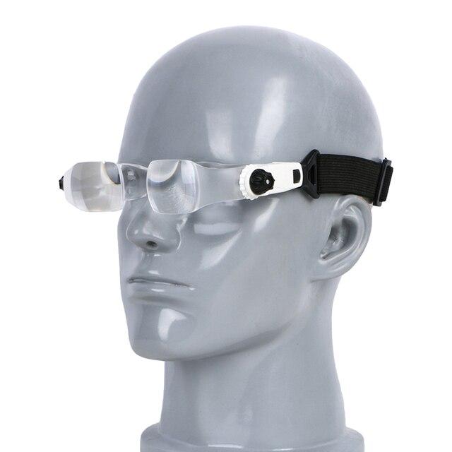 3.8X 4.0X support TV lunettes Loupe bandeau lunettes Loupe avec support de téléphone étui à lunettes