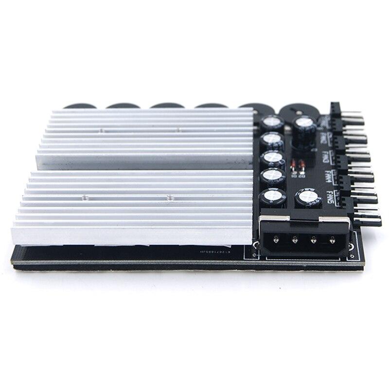 Image 2 - En Labs 6 Channel 3 pin 4 pin компьютерный кулер для процессора чехол регулятор скорости вентилятора с резиновой основой для PC чехол для внутреннего и горнодобывающего оборудования-in Вентиляторы и охлаждающие аксессуары from Компьютер и офис on AliExpress - 11.11_Double 11_Singles' Day