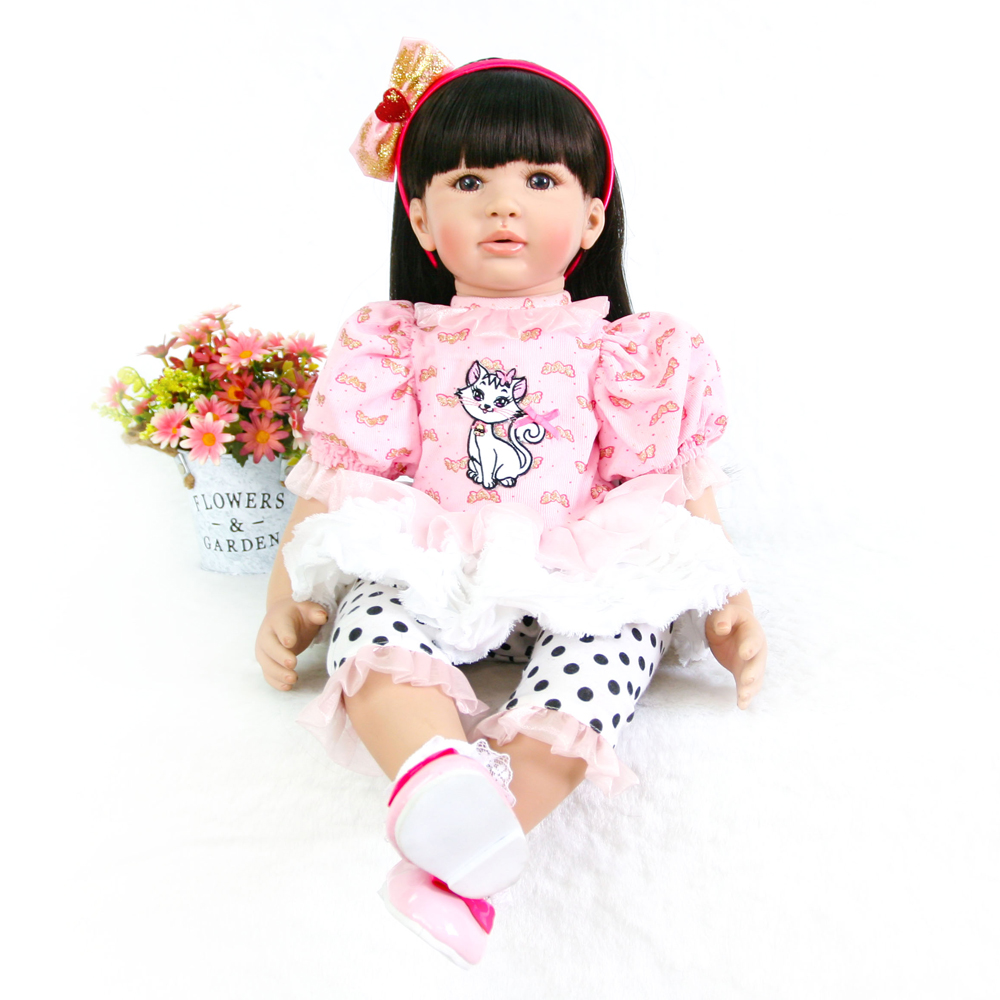 24 Polka dot pants girl doll reborn silicone vinyl +soft cloth body children Most popular toys bebe DIY boneca reborn juguetes24 Polka dot pants girl doll reborn silicone vinyl +soft cloth body children Most popular toys bebe DIY boneca reborn juguetes