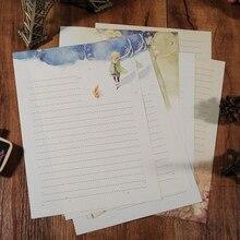 Набор из 8 канцелярских принадлежностей для письма принца из мультфильма, красивые школьные офисные канцелярские принадлежности, подарки для студентов