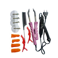 Professional Full Kit Hair Extension Iron And Plier Tool High TEMP Fusion Heat Connectors Keratin Bond