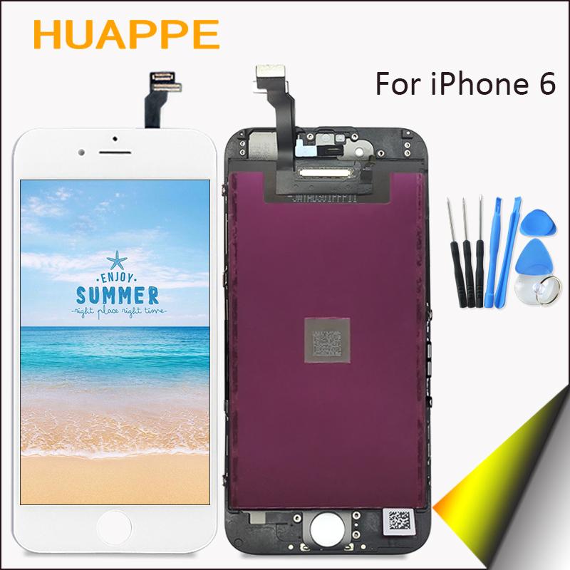 Prix pour Haute qualité aaaa aucun pixel mort d'affichage pour apple iphone 6 LCD Écran Tactile de Remplacement Avec Digitizer 4.7 pouces Blanc noir