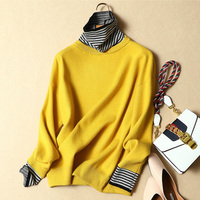 winter women sweater female loose striped turtleneck pullovers female loose plus size thick warm sweater girl 0.51