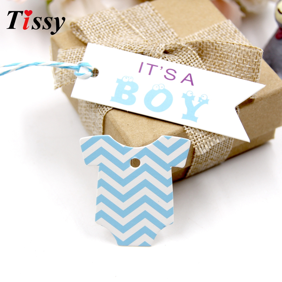 100PCS Boy&Girl Paper Tags Creative Paper Card Tag Labels DIY Crafts For Baby Birthday Party Decorations Baby Shower Supplies