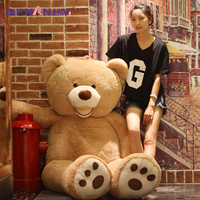 Huge Size 160cm USA Giant Bear Skin Teddy Bear Hull Super Quality Wholesale Price Selling Toys For children Girls present
