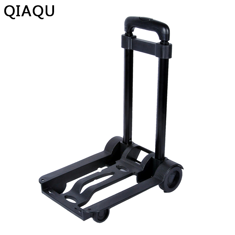 QIAQUFolding portable travel trailer Domestic luggage cart Portable hand cart for shopping Trolley shopping cart цены