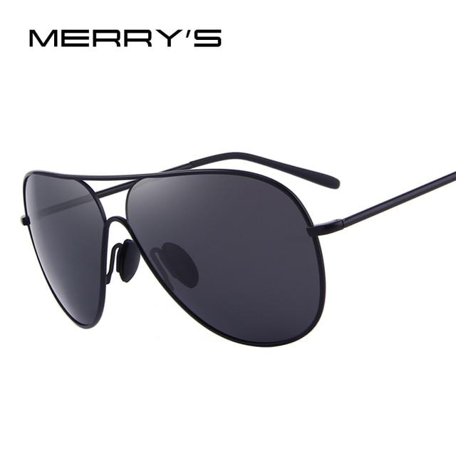 1b2e4887c MERRY'S DESIGN Men Classic Polarized Pilot Sunglasses Male Eyewear 100% UV  Protection S'8456