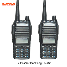 2 шт./компл. Горячая иди и болтай walkie talkie UV 82 Baofeng 1 пара Портативный радио Baofeng UV-82 с наушником CB Ham Радио УКВ двойного UV82 радио