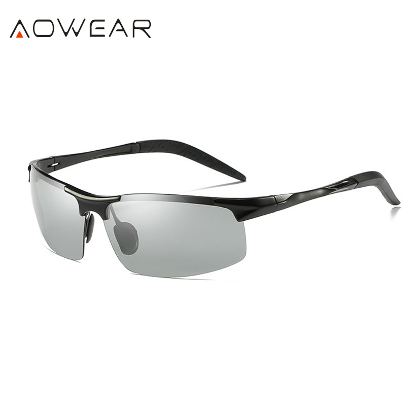 Sol Dos Homens Polarizados Liga De Óculos