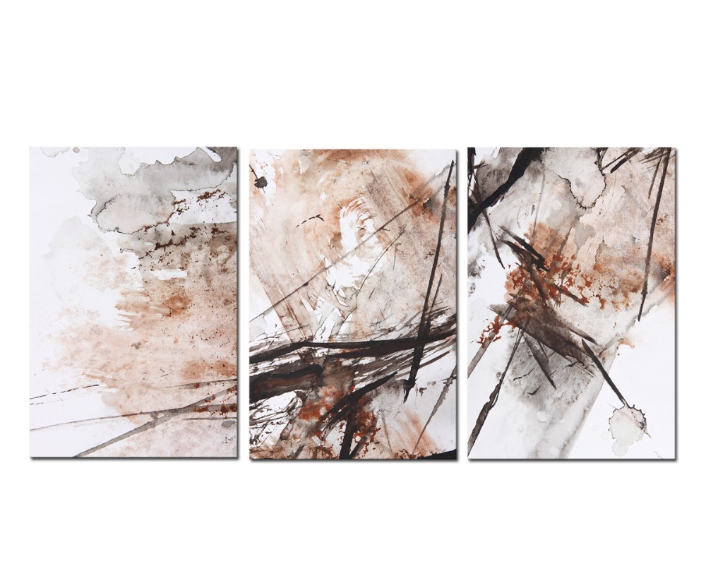 3 Panels Framed Abstract poster Wall Art Painting Modern Home Decor Picture For Living Room