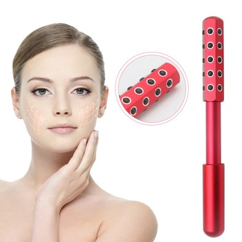 Germanium Beauty Roller Massager Negative Ionic Face Massage Slimming Tool For Face Lift Up Anti-wrinkle Facial Skin Care New newly facial massage roller anti wrinkle cellulite face slimming body relax beauty tool for head neck foot