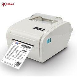 New Arrival termiczna drukarka etykiet 110mm A6 wysyłka logistyczna drukarka kodów kreskowych USB/Bluetooth Auto Peeling przenośna drukarka RD-9210