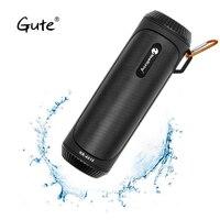 Gute column flashlight torch waterproof portable wireless speaker Bluetooth 5.0 Bicycle bike mount hook Stereo bass caixa de som