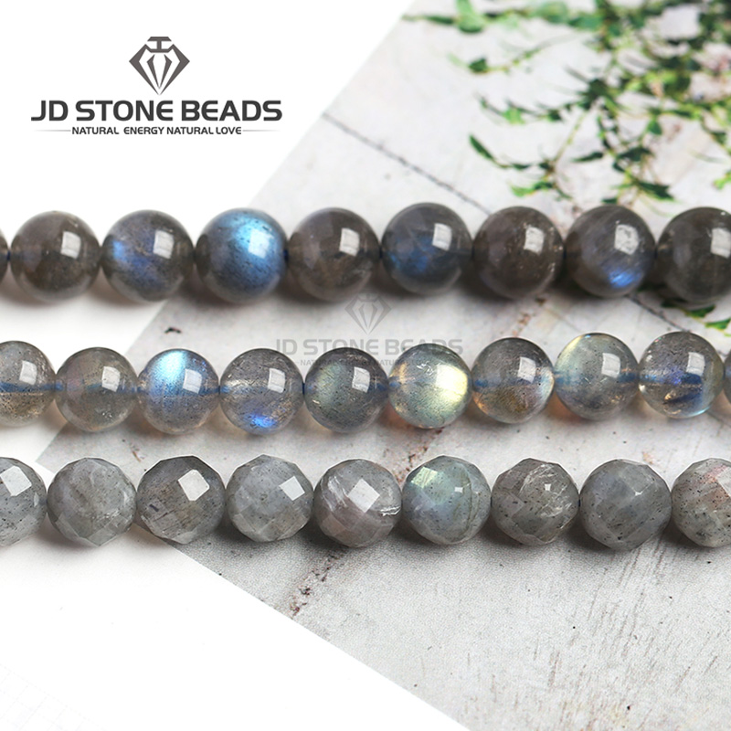 Semi-Finished-Stone-Accessories Moonstone Beads Jewelry-Making Labradorite-Grade Nature
