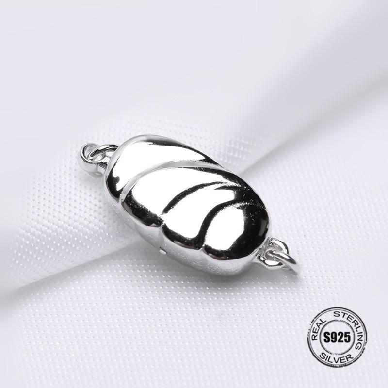 7d36caa856d8 925 cuentas de plata hebilla puntas cierre para joyería fabricación collar  pulsera cordones ...