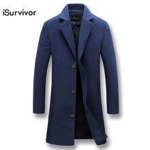 iSurvivor 2017 Men Autumn Parkas Overcoats Jaqueta Masculina Jackets and Coats Male Smart Casual Fashion Slim Fit Jackets Hombre