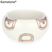 Kemstone Austrian Crystal Letter D Acrylic Bangle Bracelet Jewelry Gifts For Women