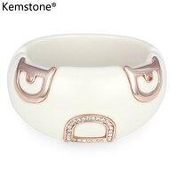 Kemstone Austrian Crystal Letter D Acrylic Bangle Bracelet Jewelry Gifts For Women