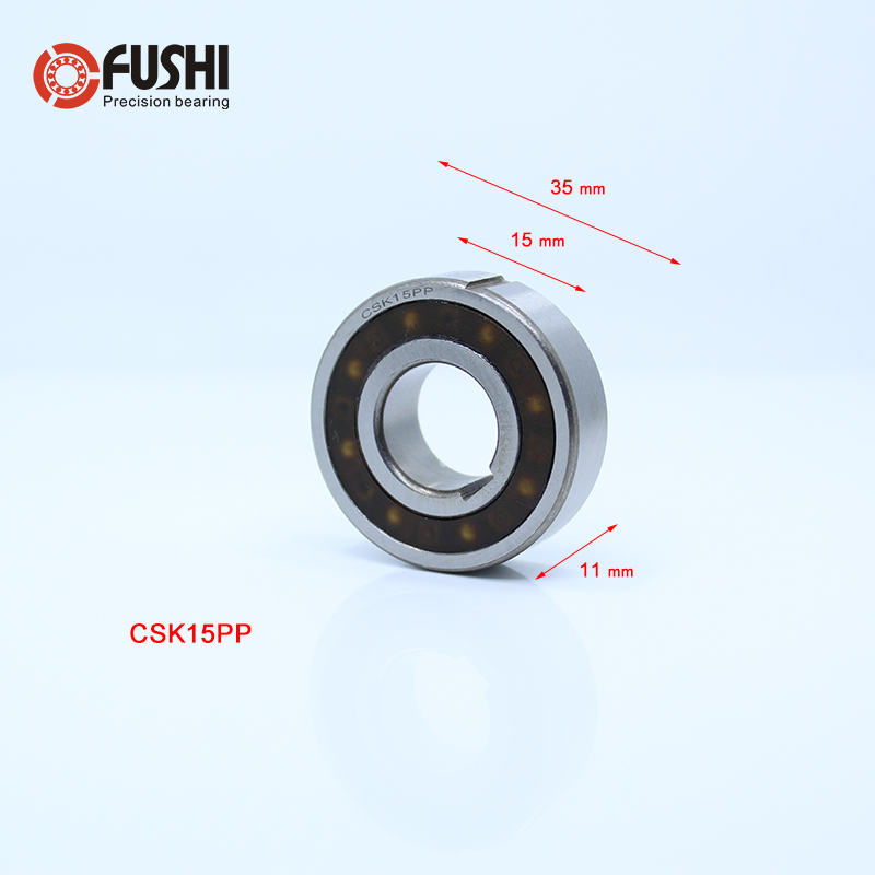 CSK15PP One Way Bearing Clutches 15*35*11mm ( 1 PC) With Keyway CSK6202PP FreeWheel Clutch Bearings CSK202PP csk40pp one way bearing clutches 40 80 18mm 1 pc with keyway csk6208pp freewheel clutch bearings csk208pp