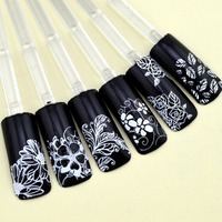 Wingood88 Full Nail Art Sticker 3D Gold Foil Nail Art Sticker Decals Decorations Tool Hot Stamping