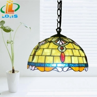 10 inches of Jane Tiffany balcony and kitchen restaurant Chandelier Lamp Vintage Fashion single head stained glass lighting