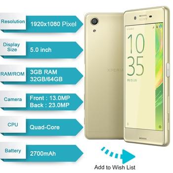 "Original Sony Xperia X Performance F8131 GSM LTE Mobile Phone RAM 3GB ROM 32GB 5.0"" Single Sim Android Quad Core 23MP 2700mAh 1"