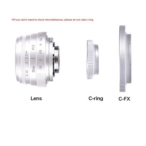 Image 4 - Fuji an 35mm f1.6 C lente de cámara de montaje CCTV II + C anillo adaptador de montura + Macro para Fuji film X Pro1 (C FX)
