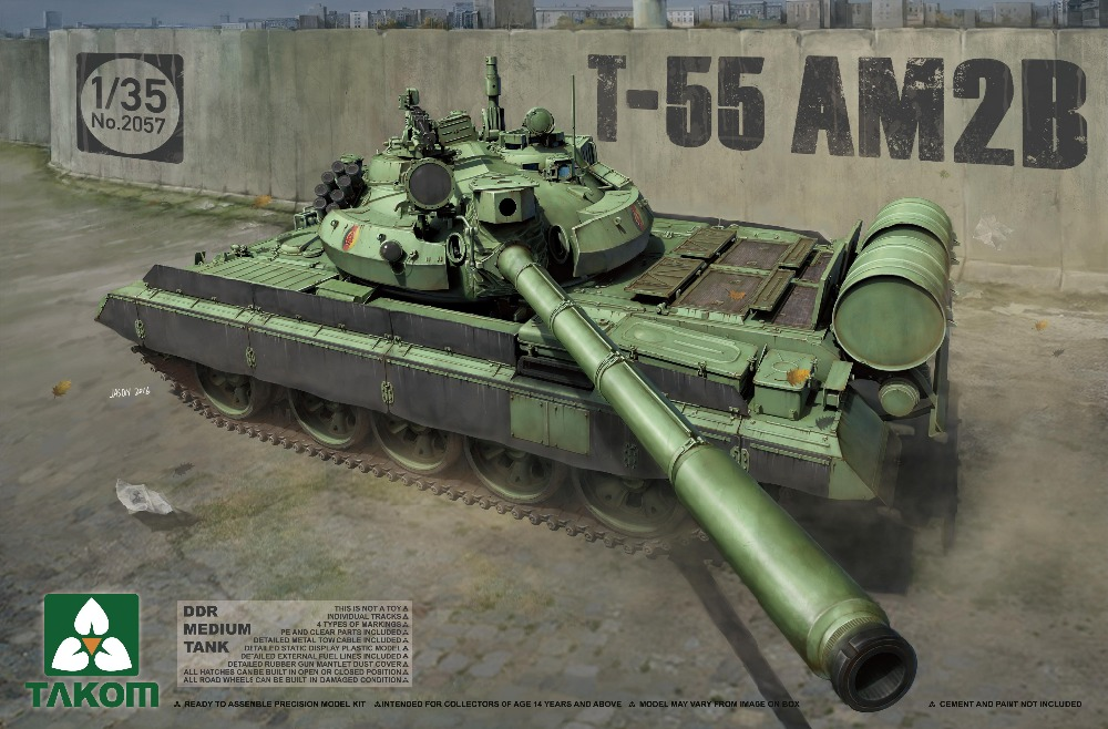 Takom 1/35 DDR Medium Tank T-55 AM2B #2057