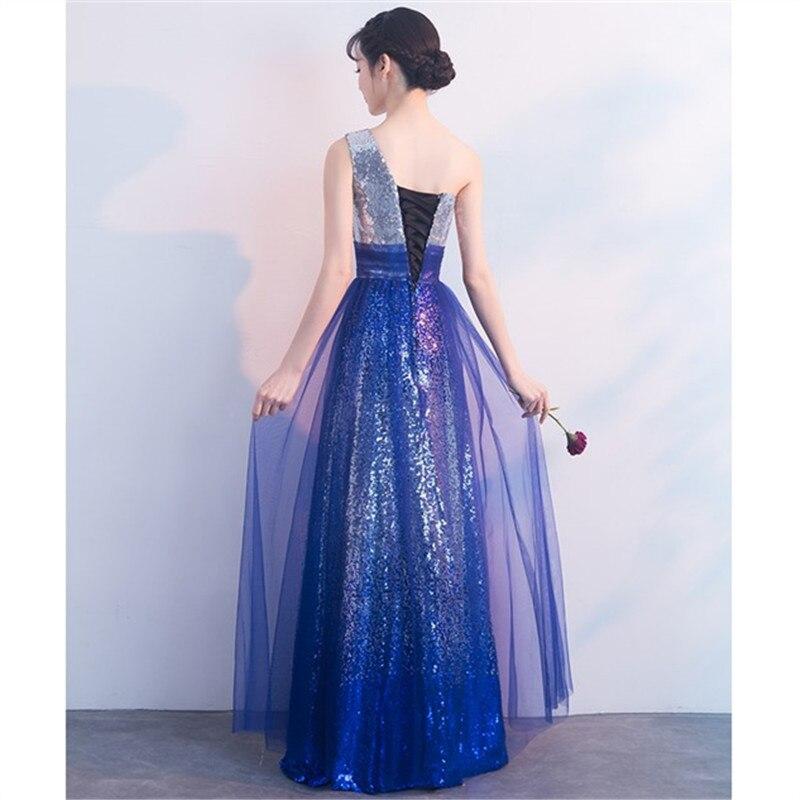 Lovertjes Lange avondjurken 2018 Halter Mermaid robe de soiree longue vestido de festa longo Een lijn formele Dresses TK298 - 3